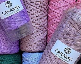 Häkelschnur / Crochet string Caramel