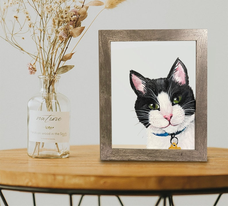 Custom Hand-Painted in Acrylic Pet Portrait Dog Cat Any Pet image 1