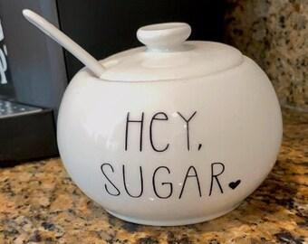 Hey Sugar Sugar Bowl Decal