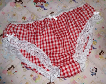 Dorothy sissy panties handmade knickers blue gingham check Wizard Of Oz men/'s