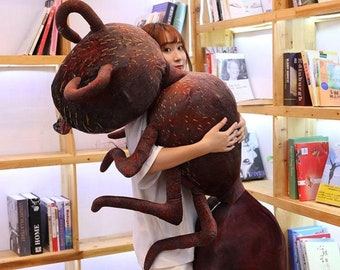 New Cute Simulation Ant Plush Toy Emmet Stuffed Doll Home Decoration Sofa Pillow Gift for Kids and Girls 45/70/100cm