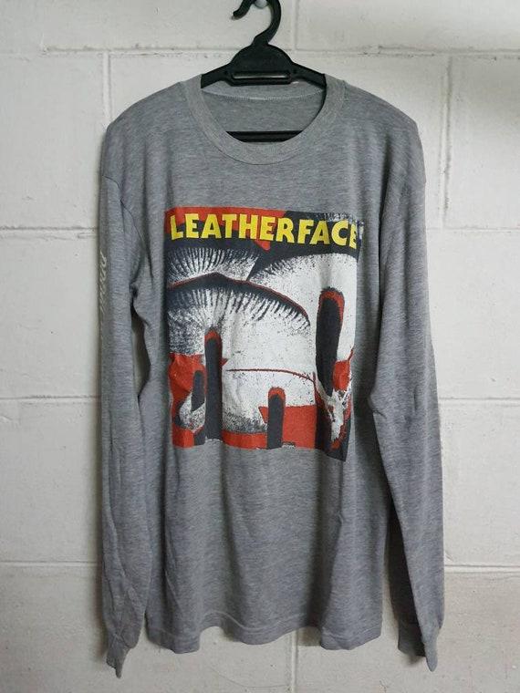 Rare Vintage Bootleg Leatherface Band Long Sleeve