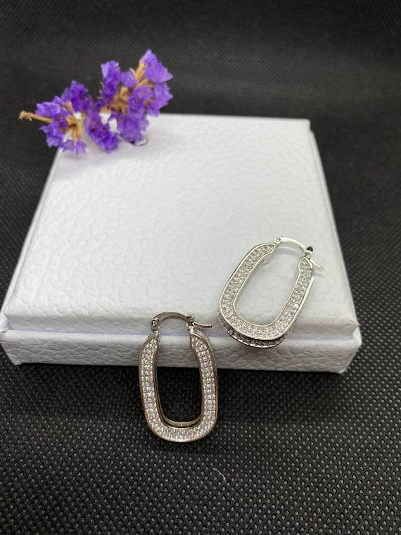 Celine Parise Silver Earrings - image 4