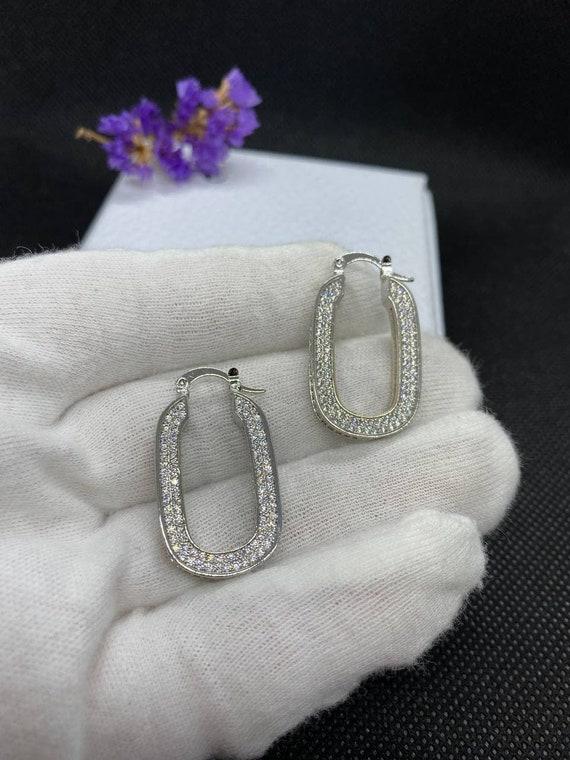 Celine Parise Silver Earrings - image 1