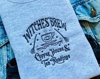 Witches Brew Embroidered Crewneck
