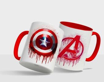 Marvel Avengers Captain America Shield - Drip design mug