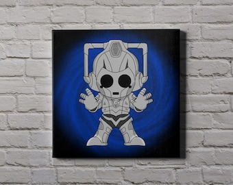 DR WHO Cyberman - cute characters canvas