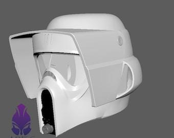 Star Wars - Biker Scout Trooper Helmet file for 3D Printing