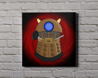 DR WHO Dalek - cute characters canvas