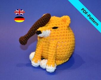 BONK! Go to Horny Jail Doge Meme | Bonk Hund | Häkelanleitung | Crochet Pattern | Amigurumi | Cheems | Plush | häkeln | PDF deutsch englisch