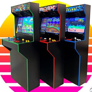 Easy to Assemble LVL19C Clasica 1 or 2 Player Bartop Arcade Cabinet diy Kit w Marquee Holder Flat pack mdf HAPP style  SHIPPING INCLUDED