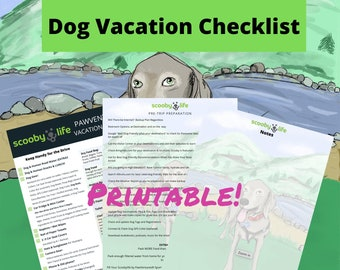 Scoobylife PawVentures® Dog Travel Vacation Checklist
