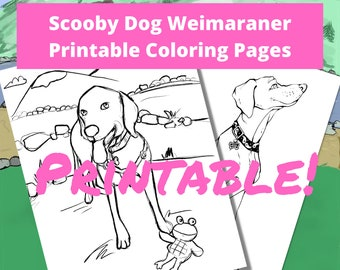 Scooby Dog Weimaraner Printable Coloring Pages