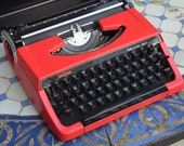 Custom made-Working Typewriter-Red brother 220 deluxe-working Perfectly