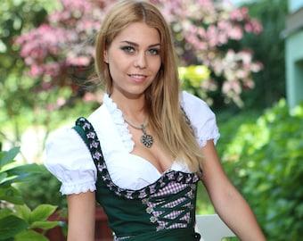 3 tlg Damen dirndl dress , Germany Oktoberfest dirndl dress, 2021 Trend Model, kirklandoktoberfest , Design Dress, Bier Fest Topmodel 7052
