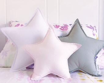 Star Shaped Pillow Galaxy Nursery Decor Decorative Pillow Star Pillow
