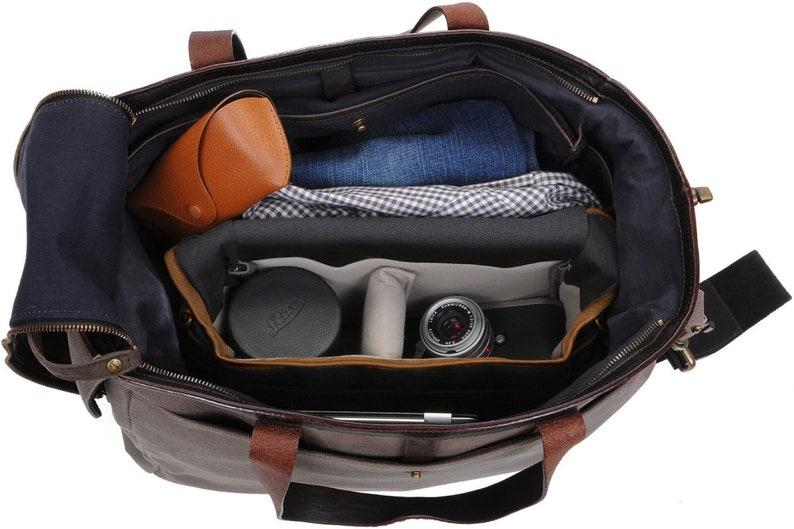 ONA Cross-Body Leather Strap Camera BagBlackBoweryCanvasLeather Strap