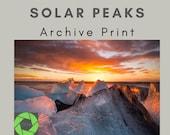 Solar Peaks - Archival Matte Print