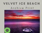 Velvet Ice Beach - Archival Matte Print