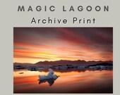 Iceland : Magic Lagoon Photo Print