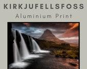 Kirkjufellsfoss Waterfall - Aluminum Print