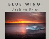 Blue wing (glacier ice) - Archival Matte Print