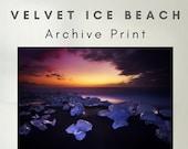 Velvet Ice Beach - Archive Matte Print