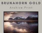 Brunahorn Gold - Archival Matte Print