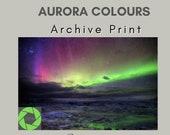 Aurora colours - Archival Matte Print