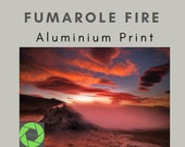 Fumarole Fire - Aluminum Print