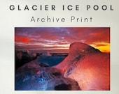 Glacier Ice Pool - Archive Matte Print