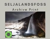 Seljalandsfoss Winter - Archival Matte Print