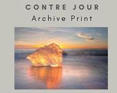 Iceland : Contre Jour Ice Photo Print