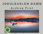 Jokulsarlon Dawn - Archival Matte Print