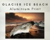 Glacier Ice Beach - Aluminum Print