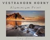 Vestrahorn Horny Brushed Aluminum Print