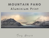 Mountain Pano - Aluminum Print : landscapes Iceland