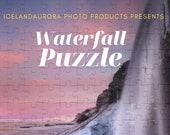 Seljalandsfoss winter waterfall 252 Piece Puzzle