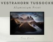 Vestrahorn Tussocks - Aluminum Print