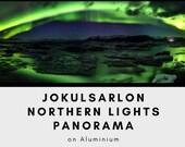 Northern lights panorama - Aluminum Print