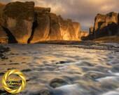 Fjadrargljufur River Gorge Landscape Iceland -
