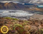Skaftafell Glacier Landscape Iceland - , Printable  Landscape Nature Photo Wall Art, Iceland Photography - Digital Download