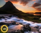 Kirkjufellsfoss Dream - Aluminum Print : Iceland waterfall