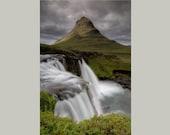 Iceland : Kirkjufellsfoss Waterfall Aluminum Print