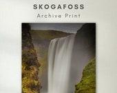 Skogafoss waterfall - Archival Matte Print