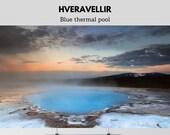 Iceland | Blue pool at Hveravellir | Premium Print