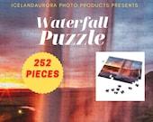 Seljalandsfoss summer waterfall 252 Piece Puzzle