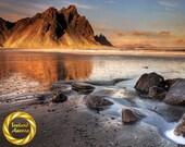 Vestrahorn Horny - Brushed Aluminum Print : Iceland Landscape