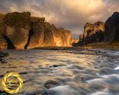 Light River Gorge Fjaðrárgljúfur Canyon, Iceland -  Landscape Photography, Iceland wall art Archival Matte Print