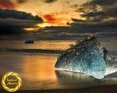 Golden Dawn Beach - Limited Edition Print : Jokulsarlon Iceland